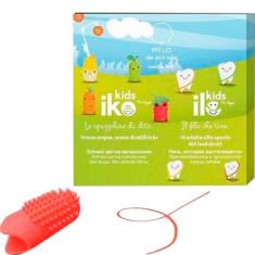 Детский набор антибактериальный фторирующий (Зубная щетка iKO Kids, зубная нить iLO Kids), Клубника MELO - WHEN YOU'RE SMILING