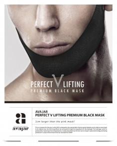 AVAJAR Маска лифтинговая мужская, черная / Perfect V lifting premium black mask 1 шт