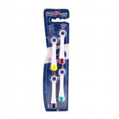 Fuchs Battery Depot Сменные насадки для электрических зубных шеток разных цветов, средней жесткости, 4 шт