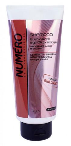 BRELIL PROFESSIONAL Шампунь для придания бриллиантового блеска волосам, с маслом арганы и макадамии / Numero 300 мл