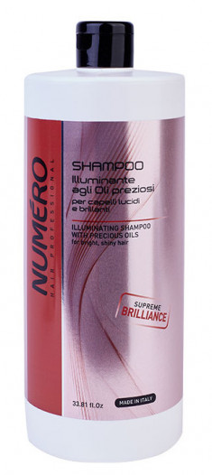BRELIL PROFESSIONAL Шампунь для придания бриллиантового блеска волосам, с маслом арганы и макадамии / Numero 1000 мл