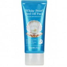 очищающая маска-пленка с экстрактом жемчуга farmstay white pearl peel off pack