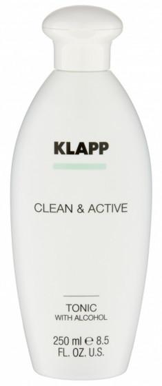 KLAPP Тоник со спиртом для лица / CLEAN & ACTIVE 250 мл