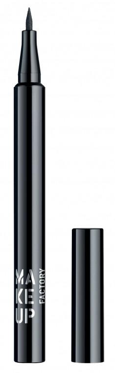 MAKE UP FACTORY Подводка жидкая для глаз, 01 черный / Full Control Liquid Liner 1 мл