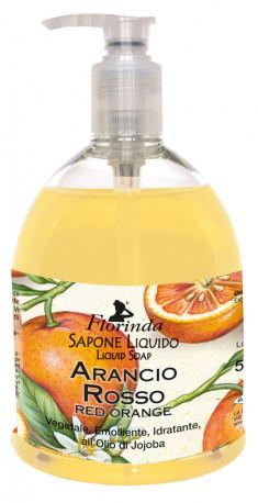 FLORINDA Мыло растительное жидкое, красный апельсин / Arancio Rosso 500 мл