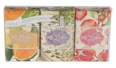 LA FLORENTINA Набор натурального мыла (цитрус, флорентийский ирис, гранат) Citrus, Florentina Iris, Pomegranate 3 х 200 г
