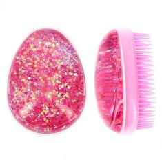 Расческа для волос LADY PINK с глиттером