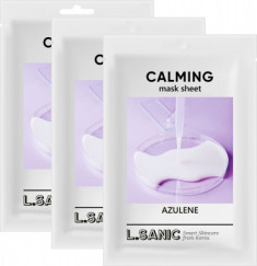 Успокаивающая тканевая маска с азуленом L.SANIC AZULENE CALMING MASK SHEET 25мл*3шт