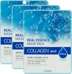 Тканевая маска с коллагеном JUNO Jluna Real essence mask pack collagen 25 мл*3шт