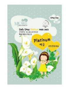 Маска тканевая с платиной Mijin Care Daily Dewy Platinum Mask Pack 25г