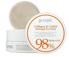 патчи для глаз с коэнзимом petitfee collagen & co q10 hydrogel eye patch