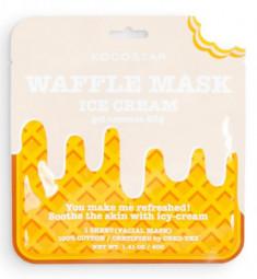 Маска вафельная смягчающая с натуральной ванилью Кocostar Waffle Mask Ice Cream 40 г KOCOSTAR