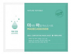 Маска тканевая для чувствительной кожи NATURE REPUBLIC REAL COMFORTING MASK SHEET [MADECASSOSIDE] 24гр