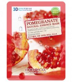 Тканевая 3D маска с экстрактом граната FoodaHolic Pomegranate Natural Essence Mask 23мл