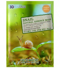 Тканевая 3D маска с экстрактом секрета улитки FoodaHolic Snail Natural Essence Mask 23 мл