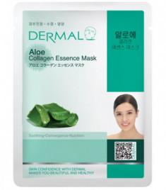 Тканевая маска алоэ и коллаген Dermal Aloe Collagen Essence Mask 23 мл