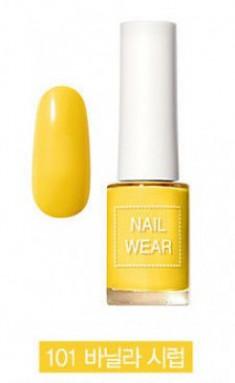 Лак для ногтей THE SAEM Nail wear 101. Vanilla Syrup