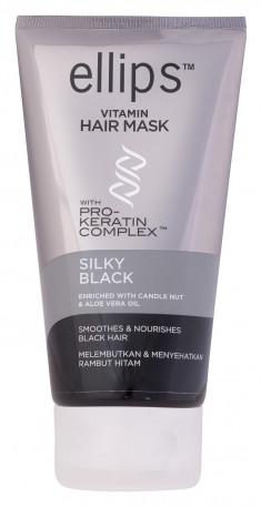 ELLIPS Маска с кератиновым комплексом для темных волос / Pro-Keratin Silky Black 120 г