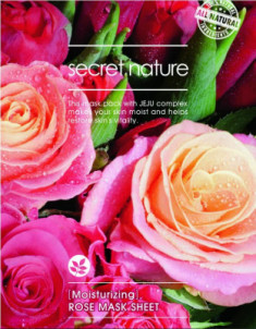 Тканевая маска для лица с розой Secret Nature Moisturizing Rose Mask Sheet 25 мл