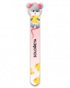 SOLOMEYA Пилка для натуральных и искусственных ногтей 180/220 Мышка, приносящая удачу / Mouse for good luck Nail File