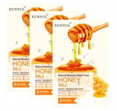 Тканевая маска с медом EUNYUL NATURAL MOISTURE MASK PACK ROYAL JELLY 22мл*3 шт