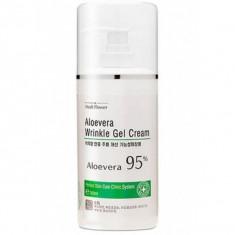 смягчающий гель-крем с алоэ 98% medi flower mediflower aloe vera wrinkle gel cream