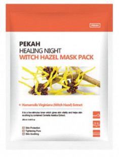 Тканевая маска с экстрактом гамамелиса Healing Night Witch Hazel Mask Pack 25мл*5шт Pekah