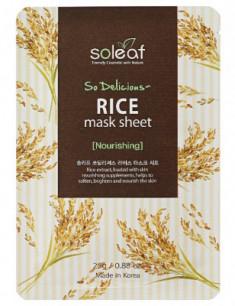 Маска тканевая питательная с рисом Soleaf So Delicious Rice Mask Sheet 25 мл