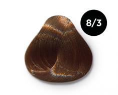 OLLIN PROFESSIONAL 8/3 краска для волос, светло-русый золотистый / OLLIN COLOR 100 мл