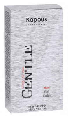 KAPOUS 6 гель-краска для мужчин, светло-коричневый (без аммония) / Gentlemen 2*40 мл