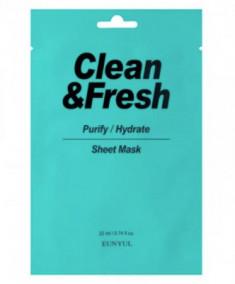 Тканевая маска для очищающего и увлажняющего эффекта EUNYUL CLEAN & FRESH PURIFY-HYDRATE SHEET MASK 22мл