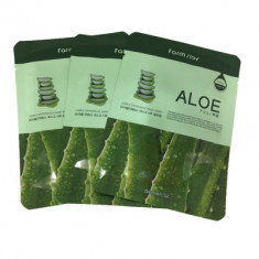 Набор тканевых масок с экстрактом алоэ FarmStay ALOE VISIBLE DIFFERENCE MASK SHEET 23мл*3