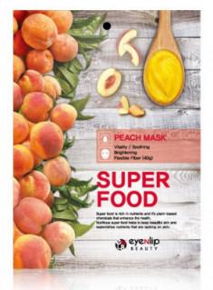Маска для лица тканевая с персиком EYENLIP SUPER FOOD PEACH MASK 23мл