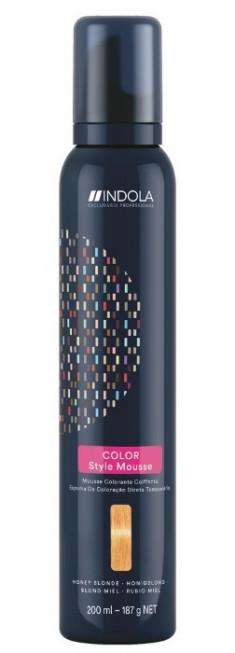 INDOLA Мусс оттеночный для укладки волос, медовый русый / Color Style Mousse 200 мл