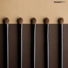 Кисть плоская для теней (большая) и растушевки деталей румян Manly Pro К62