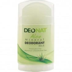 Дезодорант-Кристалл с натуральным соком алоэ стик плоский вывинчивающийся DeoNat