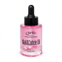 PNB, Масло для ногтей и кутикулы, с ароматом розы, 30 мл