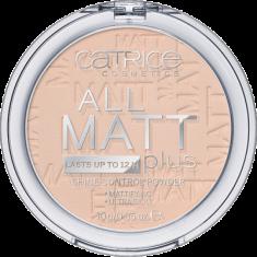 Пудра компактная CATRICE All Matt Plus Shine Control Powder 010 Transparent светло-бежевый