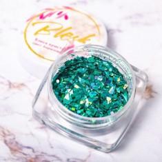 Blesk, Дизайн для ногтей «Блеск кристаллов», бирюзовый